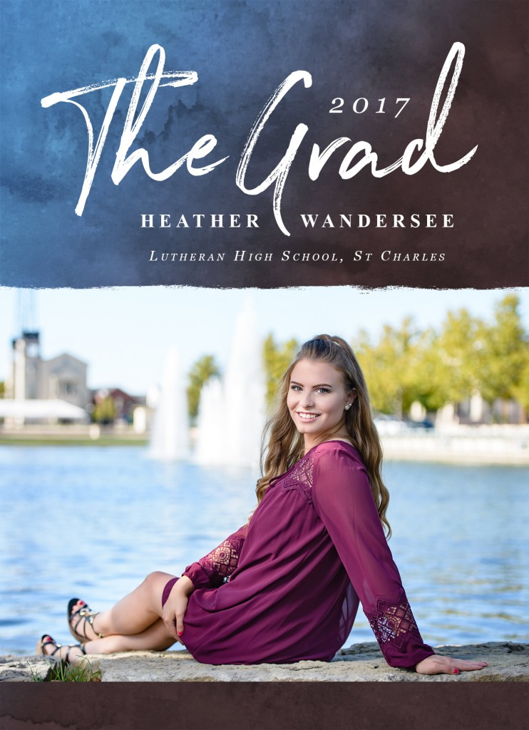 High School senior girl Graduation announcement