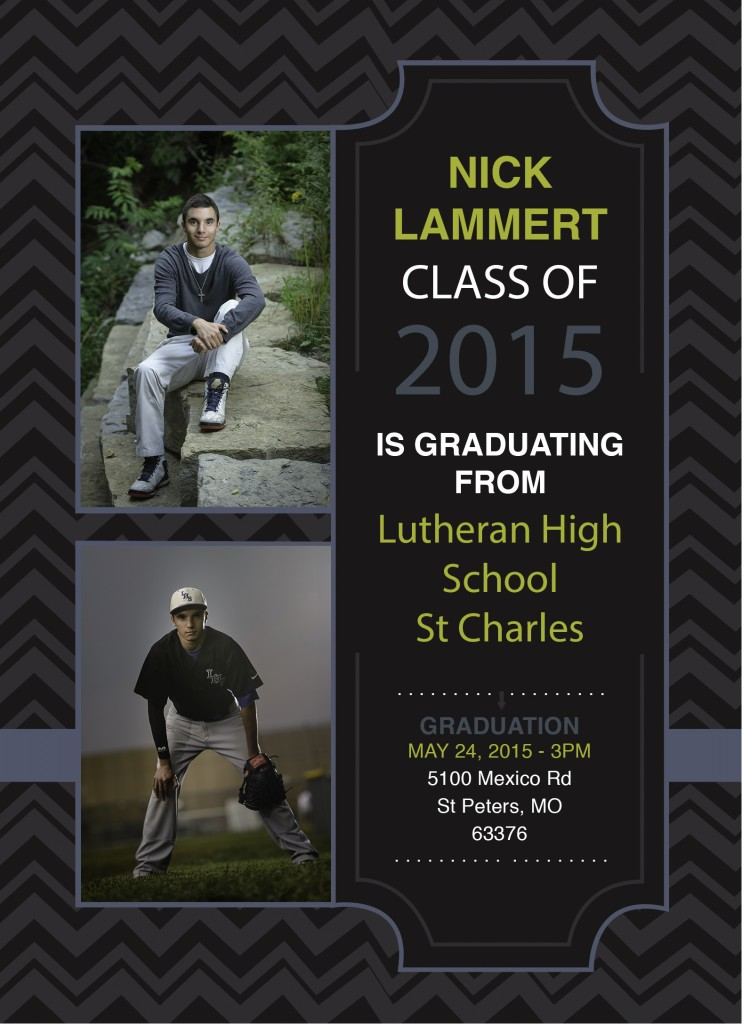 High School senior graduation announcement