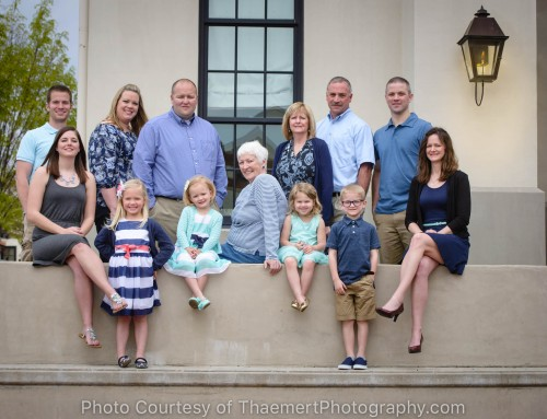Generational family photo by St Charles Family Photographer
