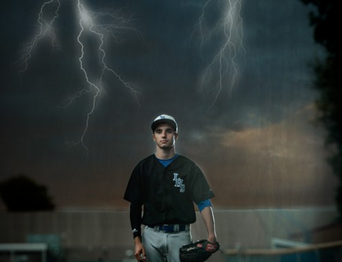 Dramatic Senior Guy Baseball Senior Pics