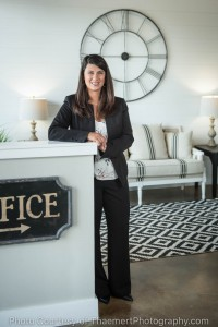 Real Estate Agent Portrait in her Fenton office