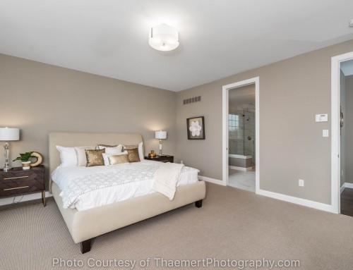 Professional Real Estate Photo of Bedroom for St Louis Custom Builder