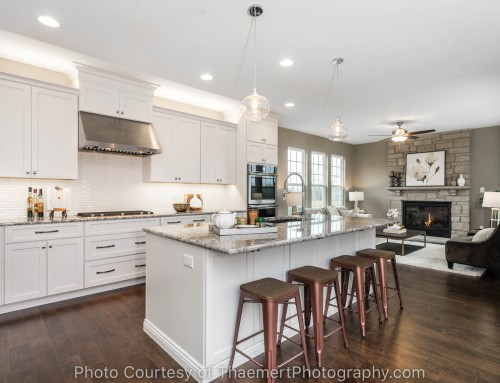 Gorgeous custom kitchen by St Louis Real Estate Photographer