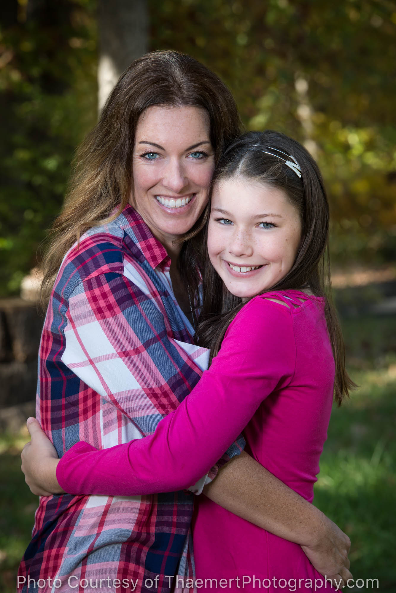 Mother and Daughter Portrait outdoors in St Louis