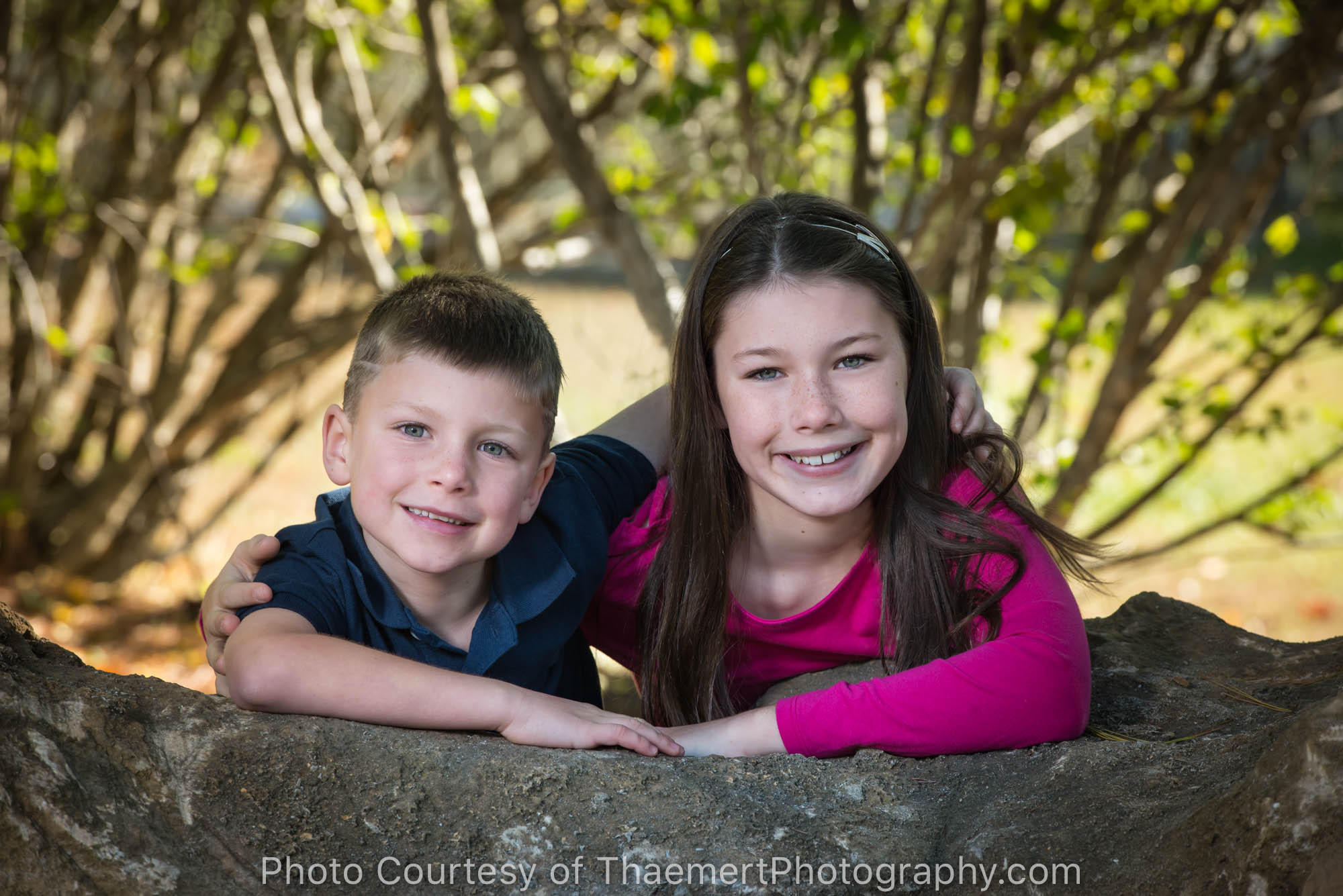 Brother and Sister outdoor portrait by St Louis Family Photographer
