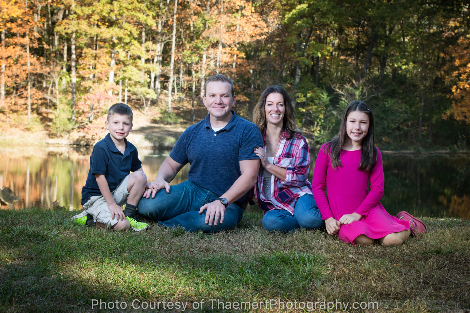 Beautiful Fall Family Portrait for Walls by K Thaemert Photography