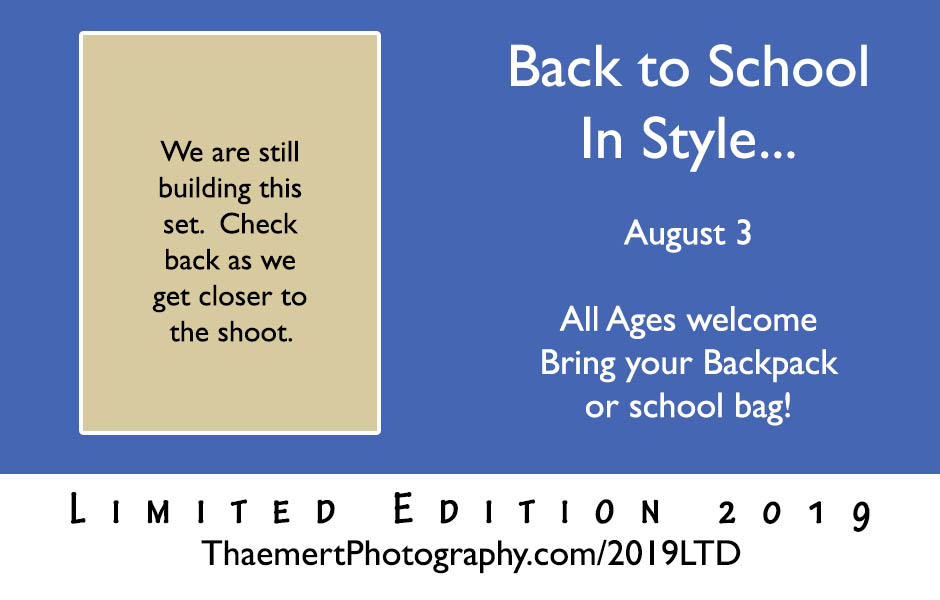 Back to School Limited Edition Photo Session in St Charles