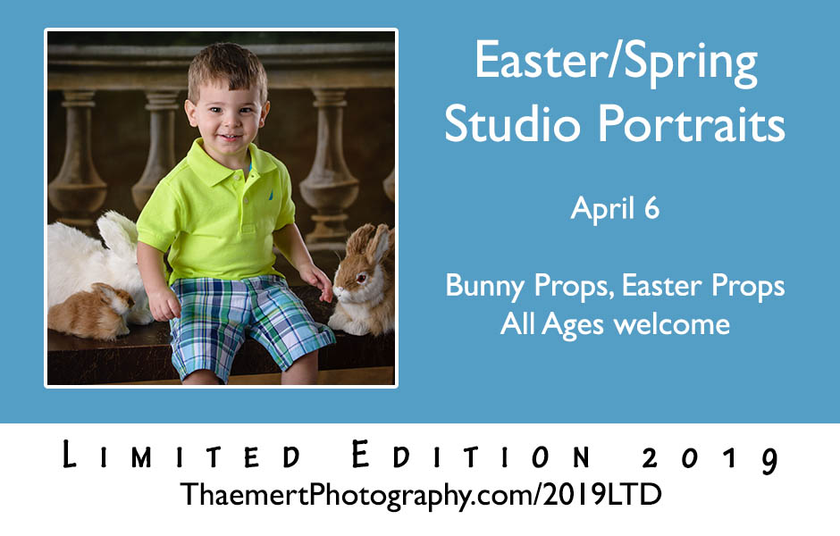Easter and Spring Studio Portraits for kids