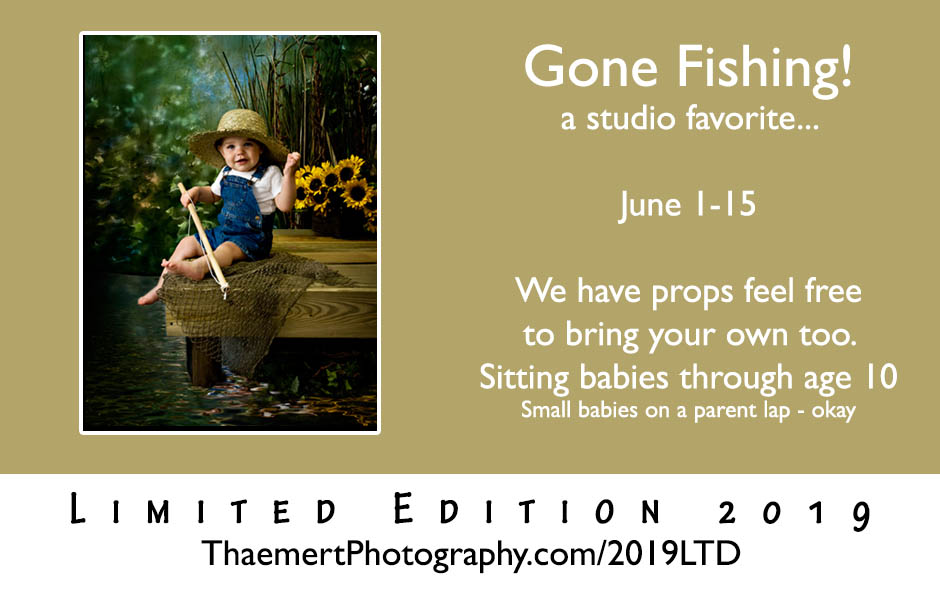 Limited Edition Portrait Session Gone Fishing