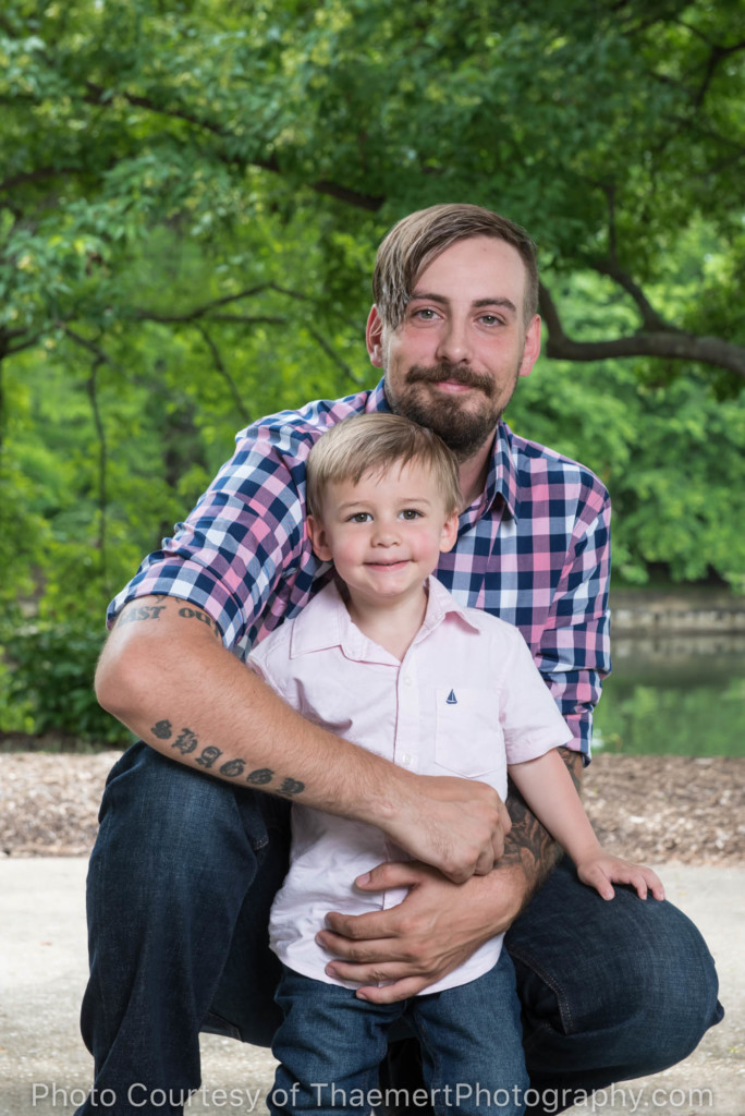 Son and Dad portrait in St Peter's Park