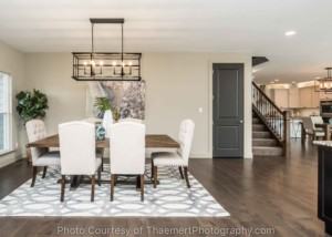 Open Concept dining room real estate photography