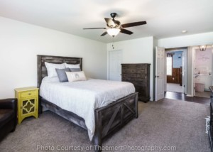 Master Bedroom gray & yellow real estate