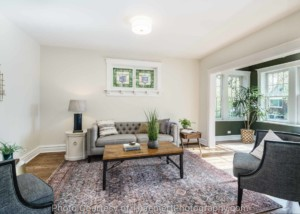 living room in st louis rehab real estate photo