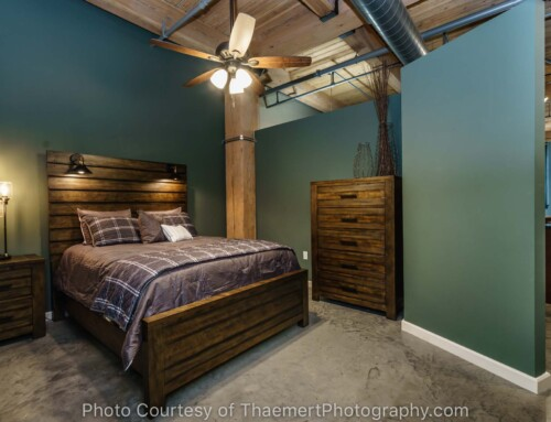 St Louis Loft bedroom real estate photography