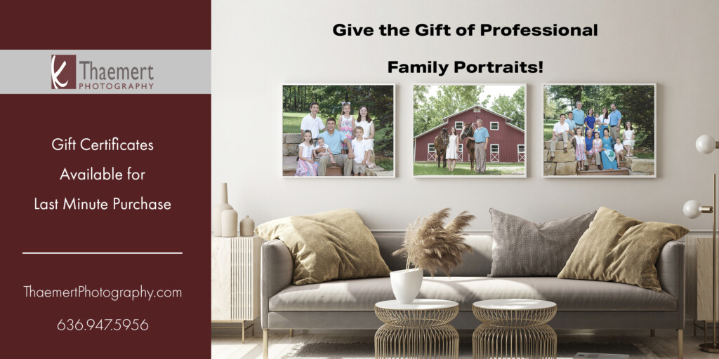 Family Portrait Gift Certificates