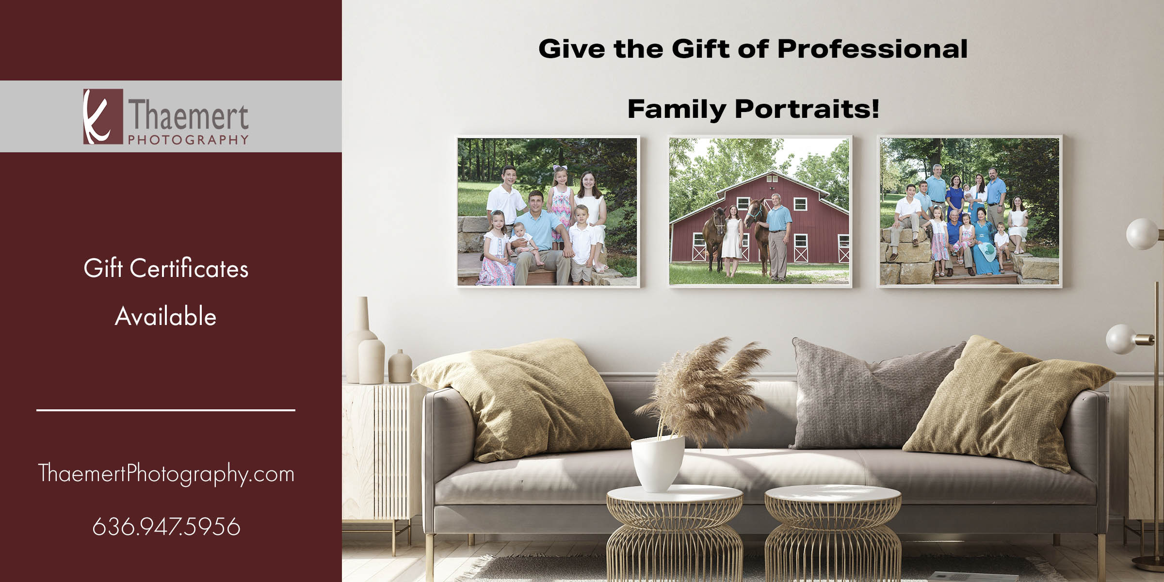 St Charles Family Photographer Gift Certificates